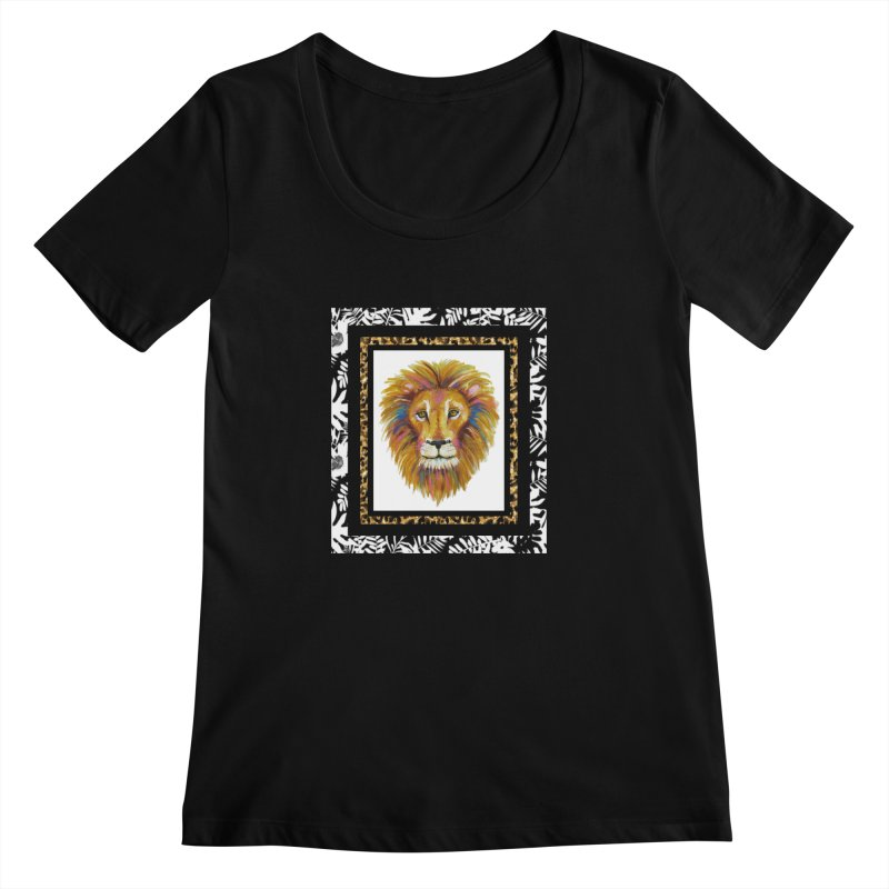 His Majesty Women's Scoopneck by Creations of Joy's Artist Shop