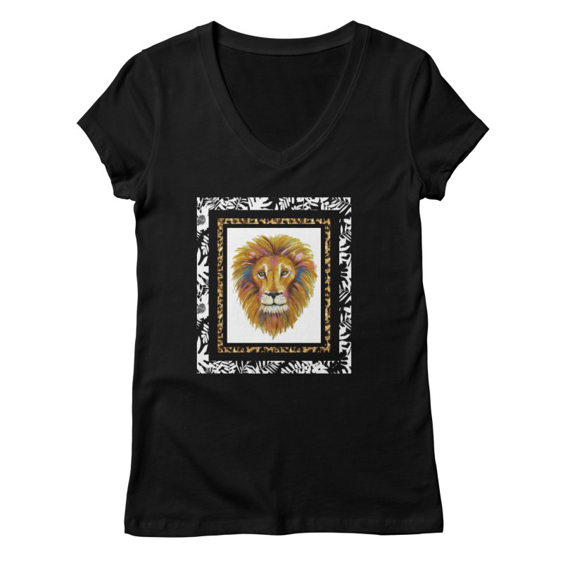 His Majesty Women's V-Neck by Creations of Joy's Artist Shop