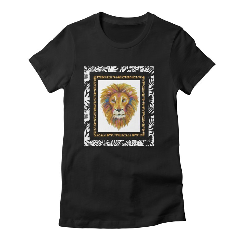 His Majesty in Women's Fitted T-Shirt Black by Creations of Joy's Artist Shop