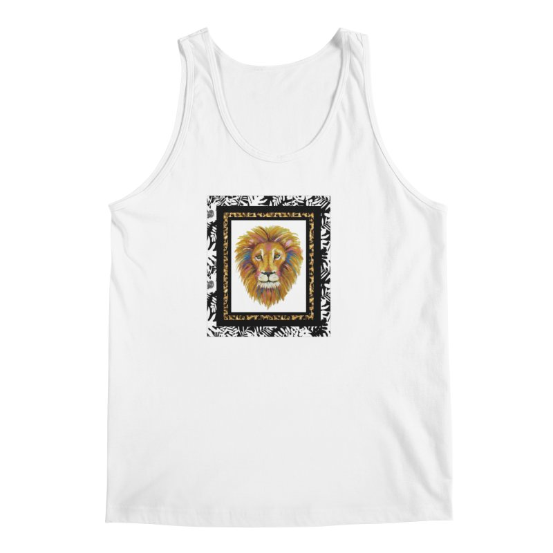 His Majesty in Men's Regular Tank White by Creations of Joy's Artist Shop