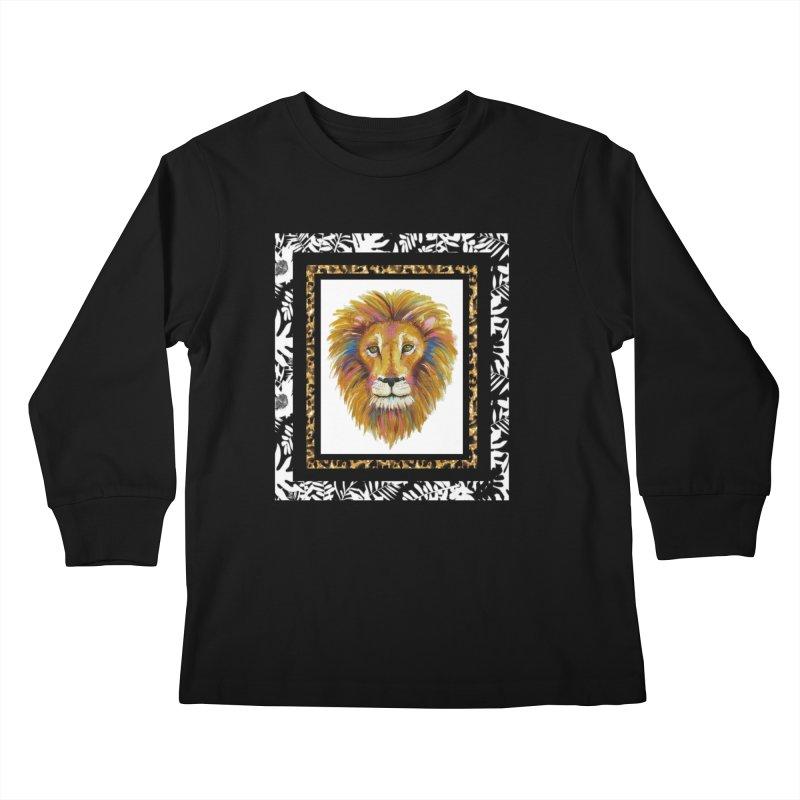 His Majesty Kids Longsleeve T-Shirt by Creations of Joy's Artist Shop