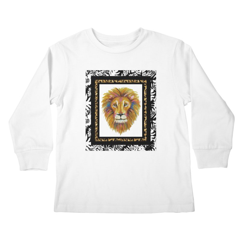 His Majesty Kids Longsleeve T-Shirt by Creations of Joy's Artist Shop