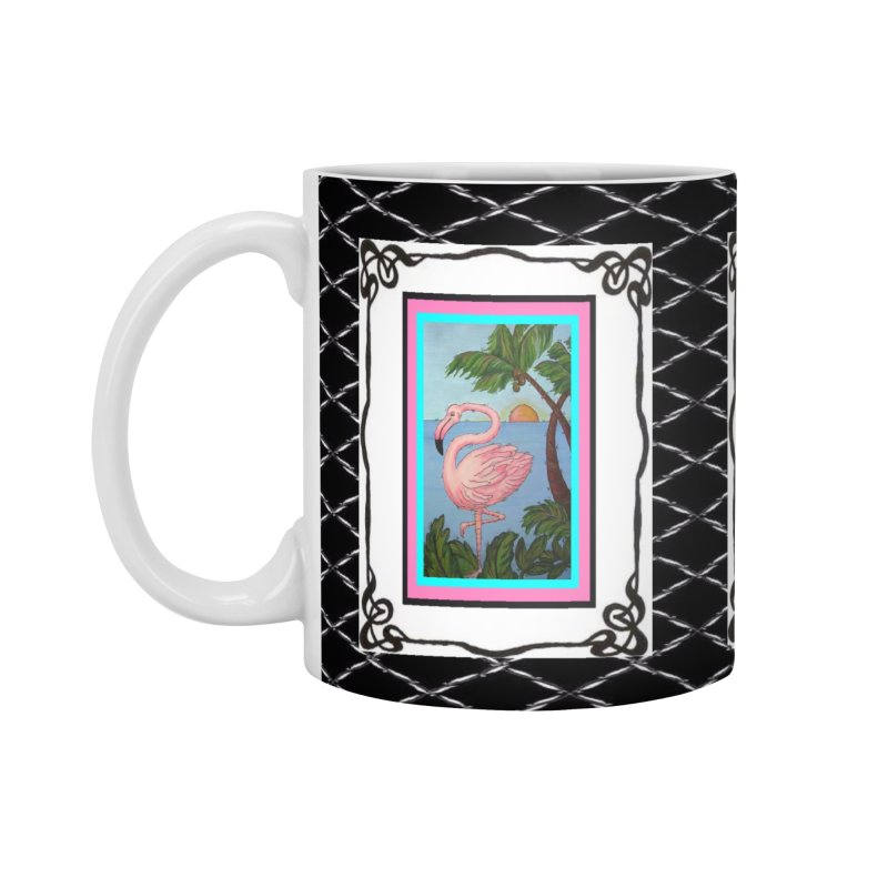 Flamingo Paradise Accessories Mug by Creations of Joy's Artist Shop