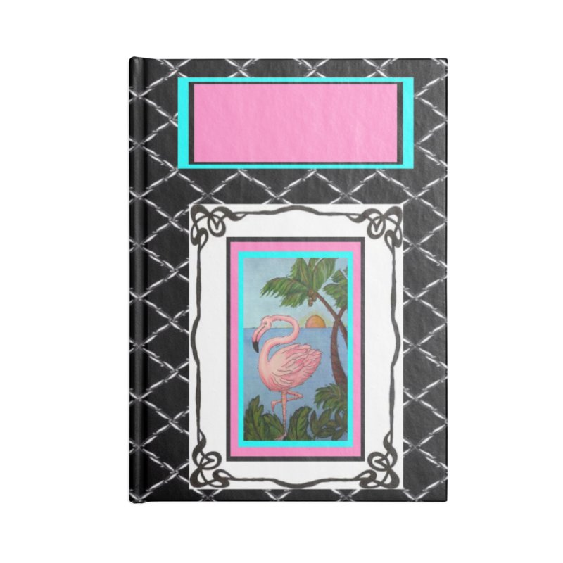 Flamingo Paradise Accessories Lined Journal Notebook by Creations of Joy's Artist Shop