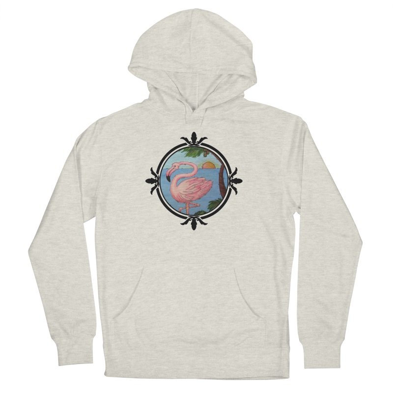 Flamingo Paradise Women's French Terry Pullover Hoody by Creations of Joy's Artist Shop
