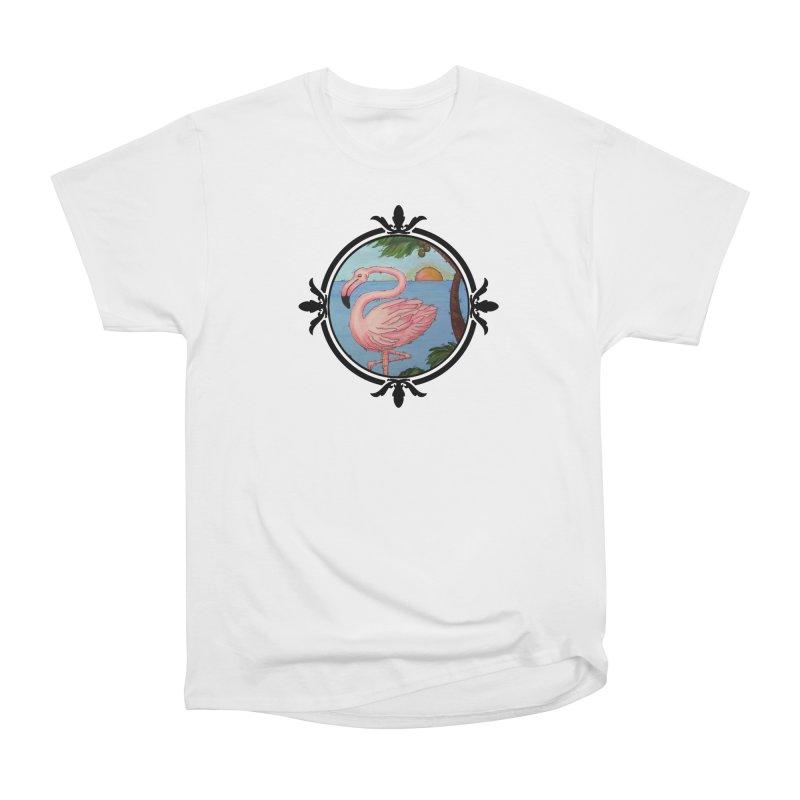 Flamingo Paradise Men's Classic T-Shirt by Creations of Joy's Artist Shop