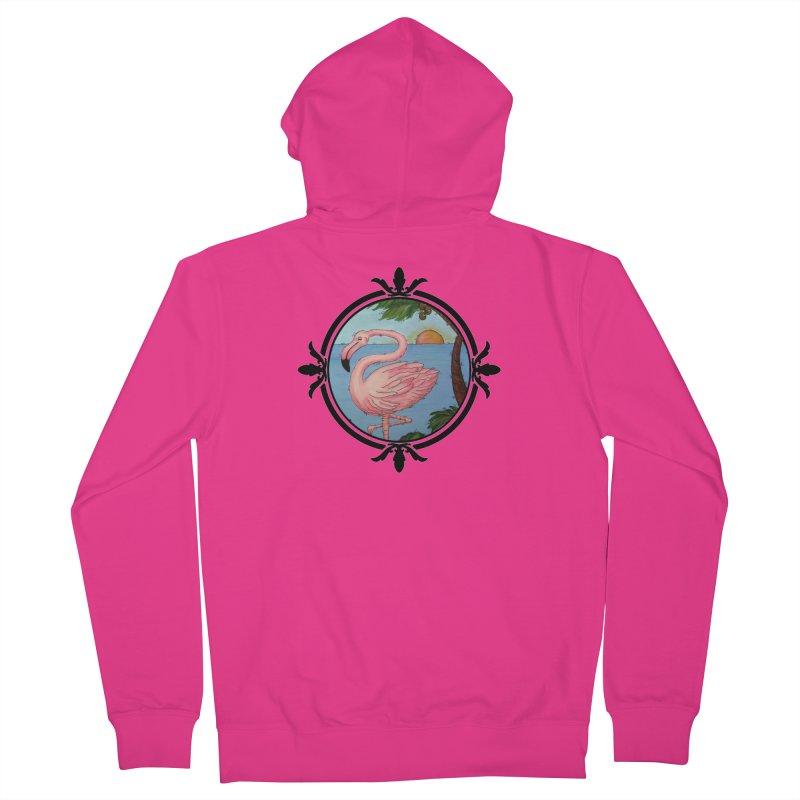 Flamingo Paradise Men's Zip-Up Hoody by Creations of Joy's Artist Shop