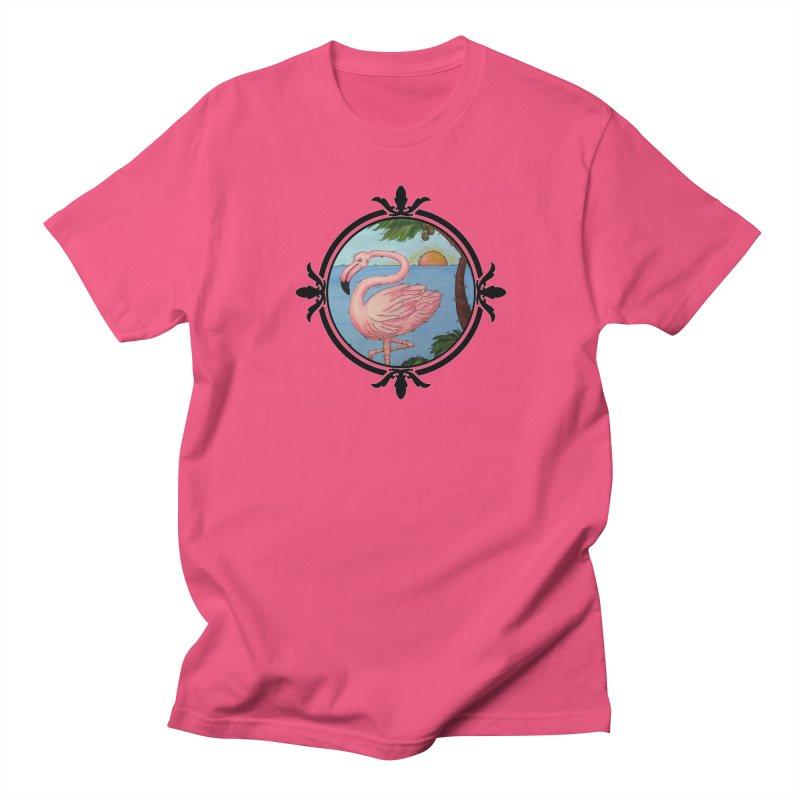 Flamingo Paradise Women's Unisex T-Shirt by Creations of Joy's Artist Shop