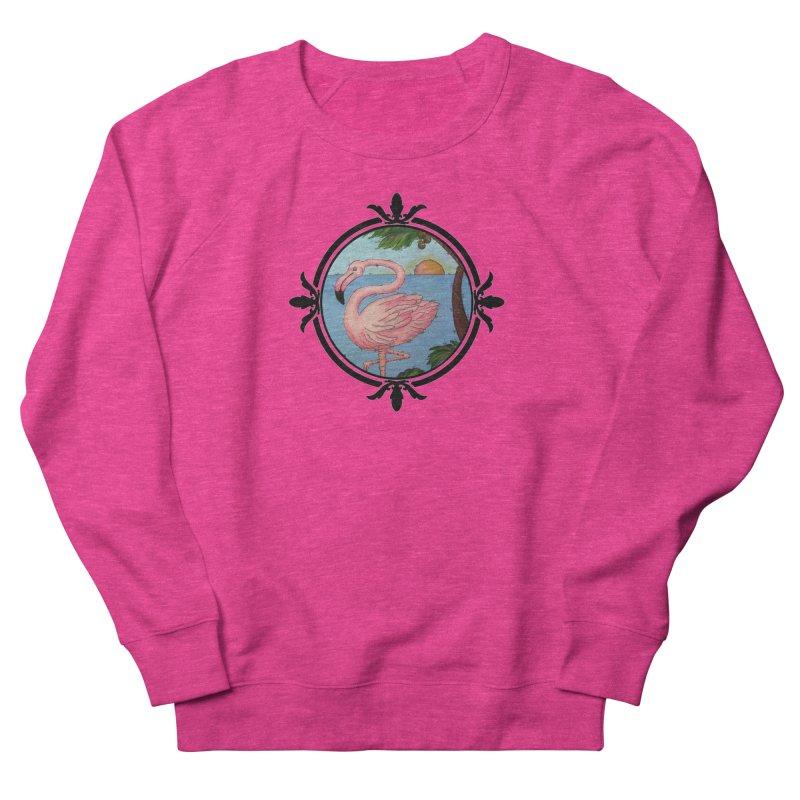 Flamingo Paradise Women's French Terry Sweatshirt by Creations of Joy's Artist Shop