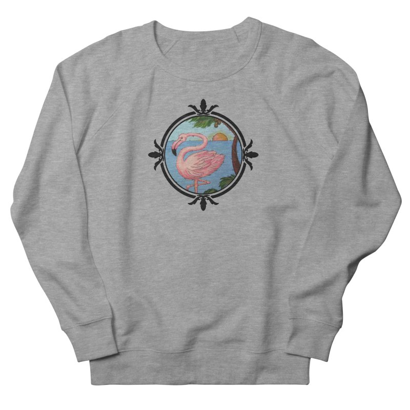 Flamingo Paradise Men's French Terry Sweatshirt by Creations of Joy's Artist Shop
