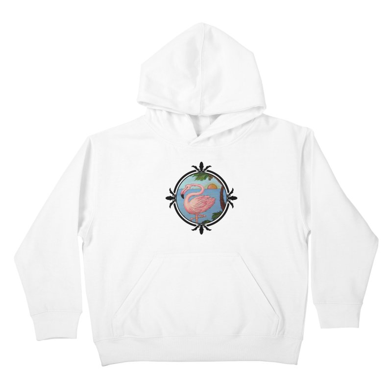 Flamingo Paradise Kids Pullover Hoody by Creations of Joy's Artist Shop