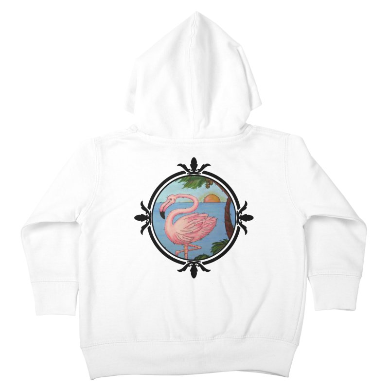 Flamingo Paradise Kids Toddler Zip-Up Hoody by Creations of Joy's Artist Shop