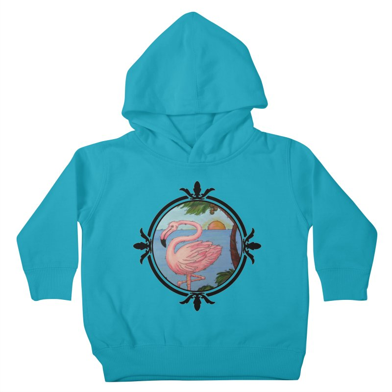 Flamingo Paradise Kids Toddler Pullover Hoody by Creations of Joy's Artist Shop