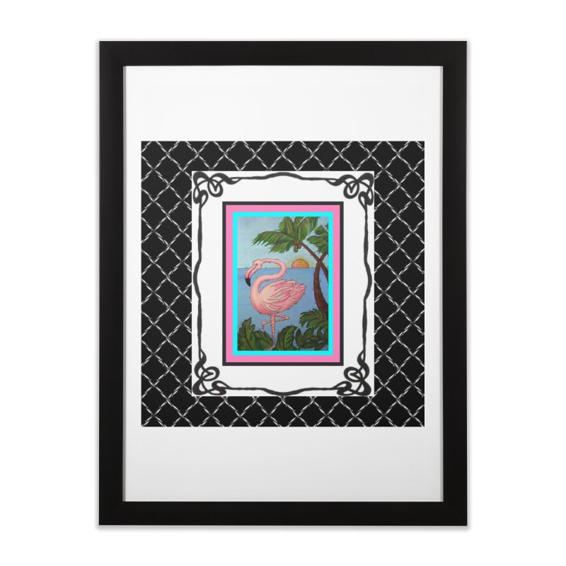 Flamingo Paradise Home Framed Fine Art Print by Creations of Joy's Artist Shop