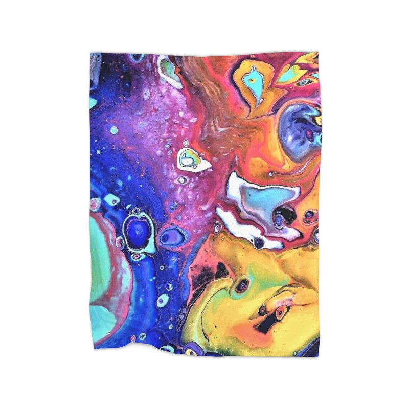 Wild and Crazy Acrylic Flow Home Fleece Blanket Blanket by Creations of Joy's Artist Shop