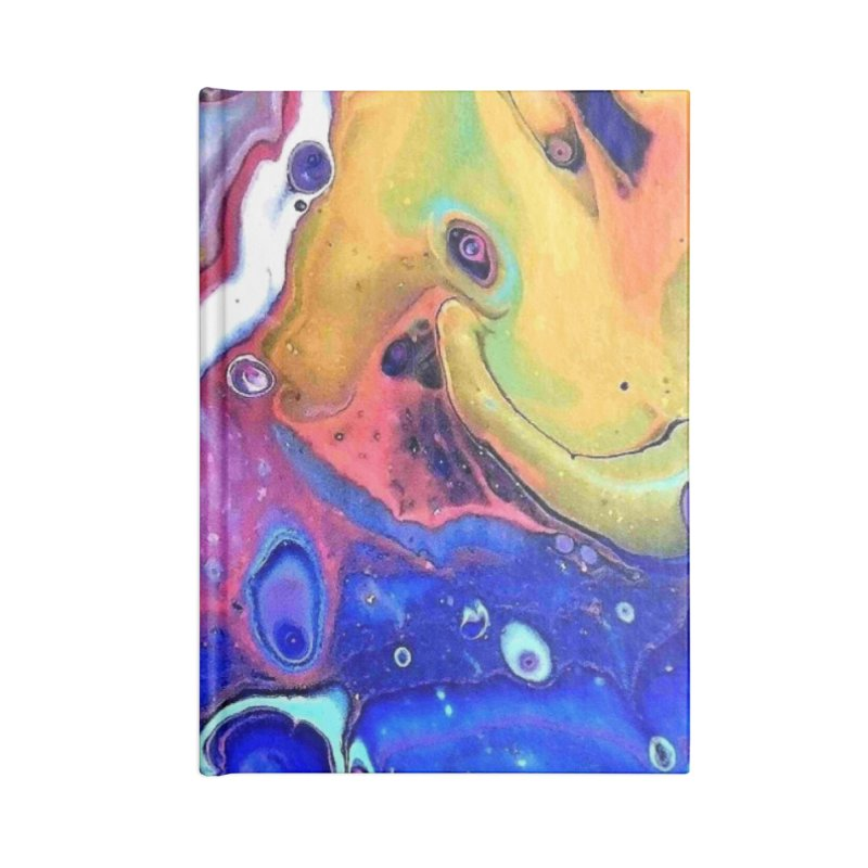 Wild and Crazy Acrylic Flow Accessories Lined Journal Notebook by Creations of Joy's Artist Shop