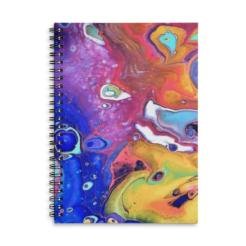 Wild and Crazy Acrylic Flow Accessories Lined Spiral Notebook by Creations of Joy's Artist Shop