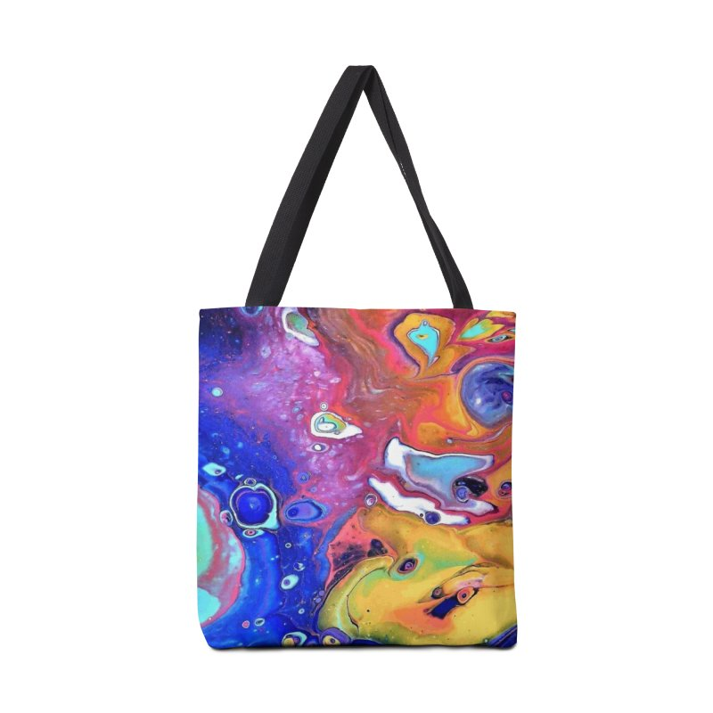 Wild and Crazy Acrylic Flow in Tote Bag by Creations of Joy's Artist Shop