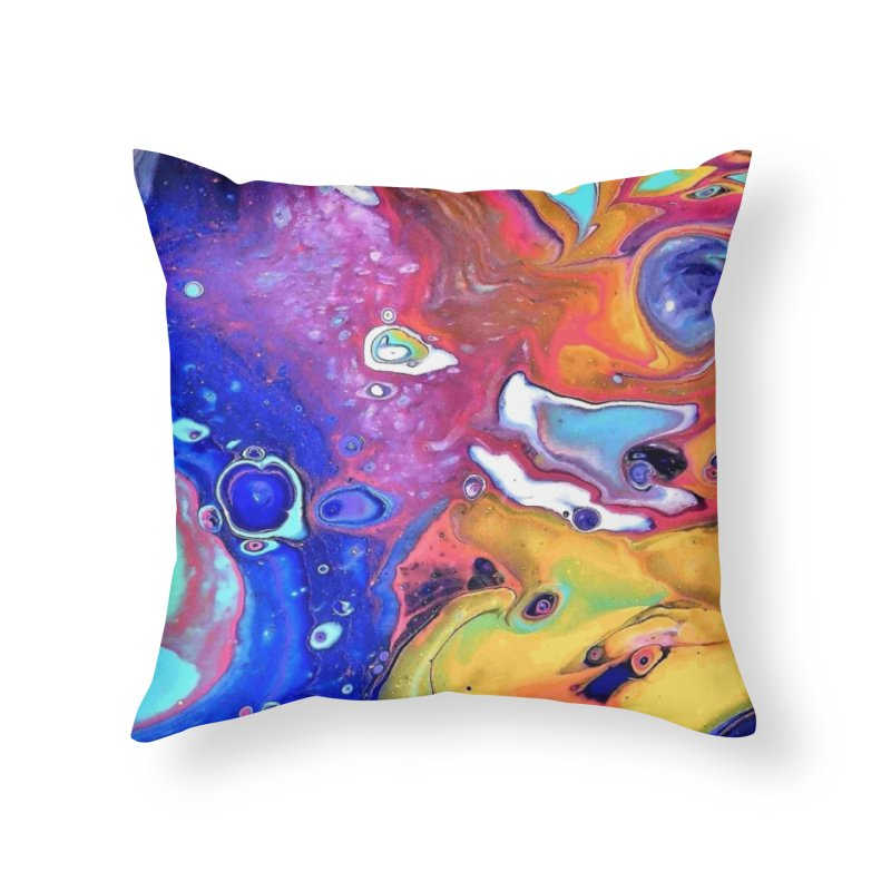 Wild and Crazy Acrylic Flow Home Throw Pillow by Creations of Joy's Artist Shop