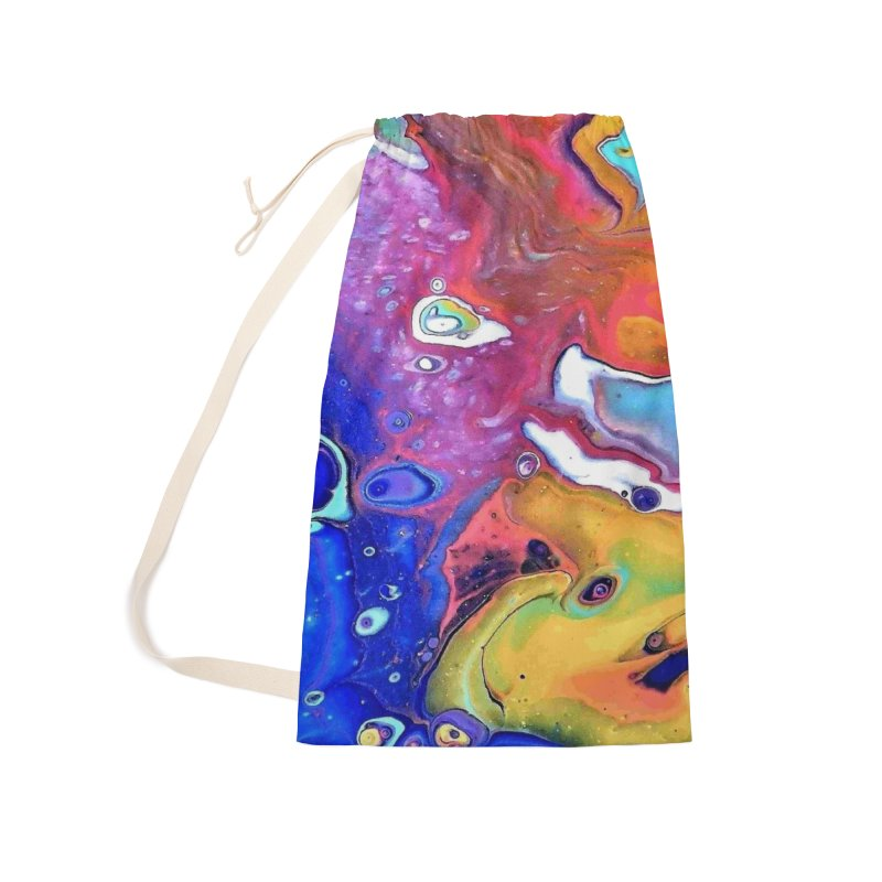 Wild and Crazy Acrylic Flow Accessories Laundry Bag Bag by Creations of Joy's Artist Shop