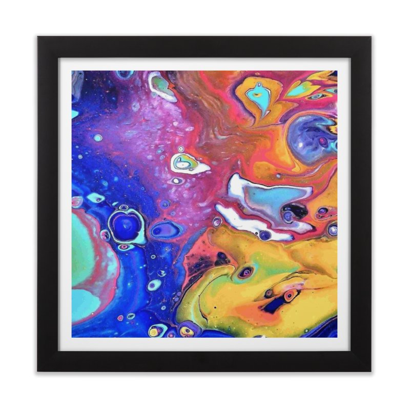 Wild and Crazy Acrylic Flow Home Framed Fine Art Print by Creations of Joy's Artist Shop