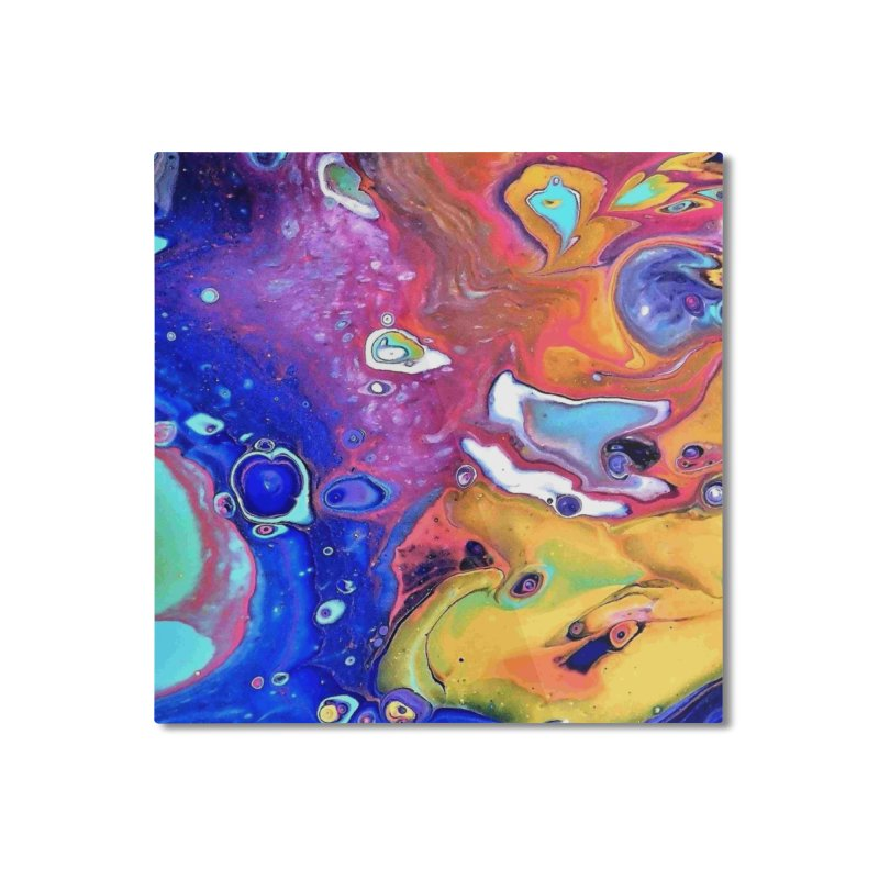 Wild and Crazy Acrylic Flow Home Mounted Aluminum Print by Creations of Joy's Artist Shop