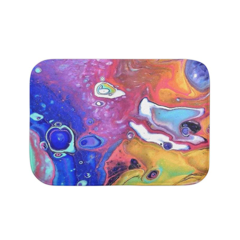 Wild and Crazy Acrylic Flow in Bath Mat by Creations of Joy's Artist Shop