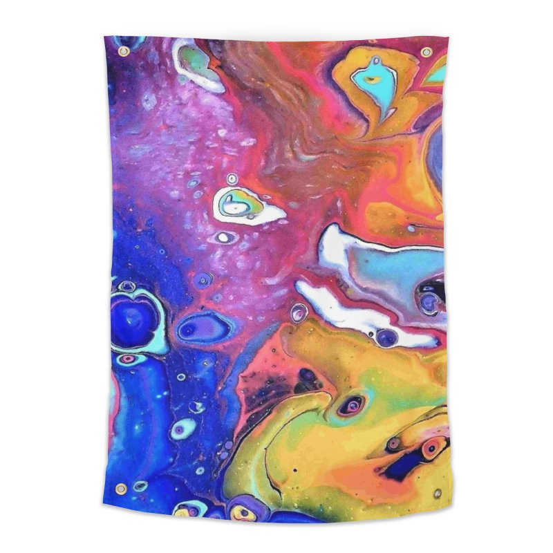 Wild and Crazy Acrylic Flow Home Tapestry by Creations of Joy's Artist Shop