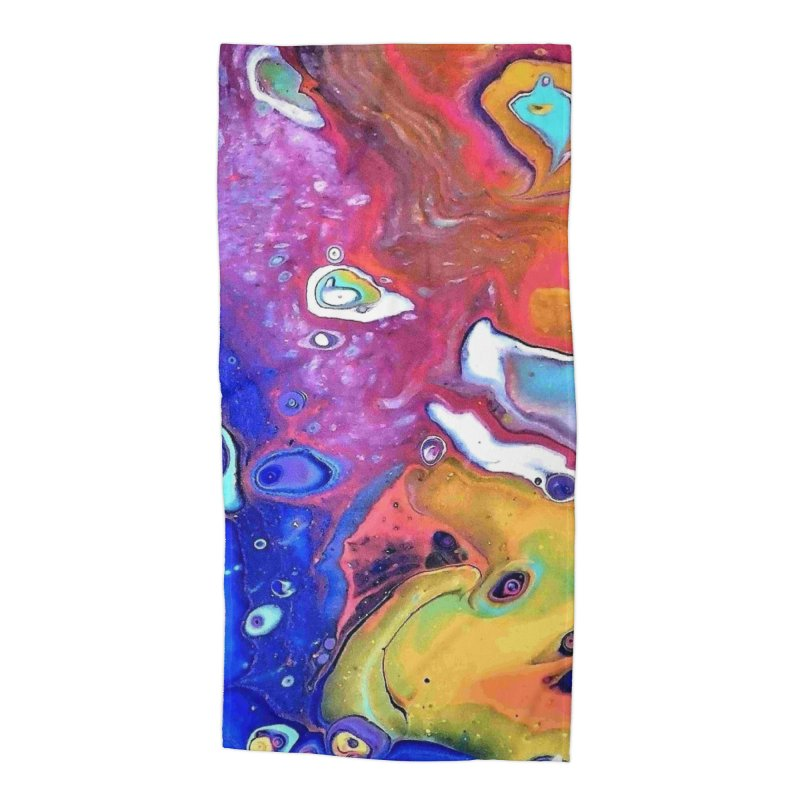 Wild and Crazy Acrylic Flow in Beach Towel by Creations of Joy's Artist Shop
