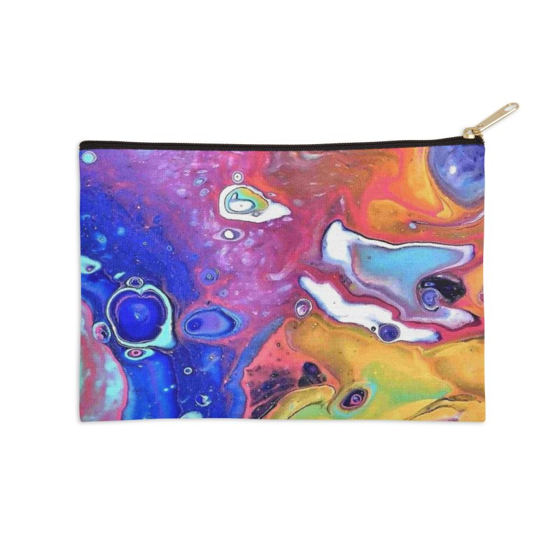 Wild and Crazy Acrylic Flow Accessories Zip Pouch by Creations of Joy's Artist Shop