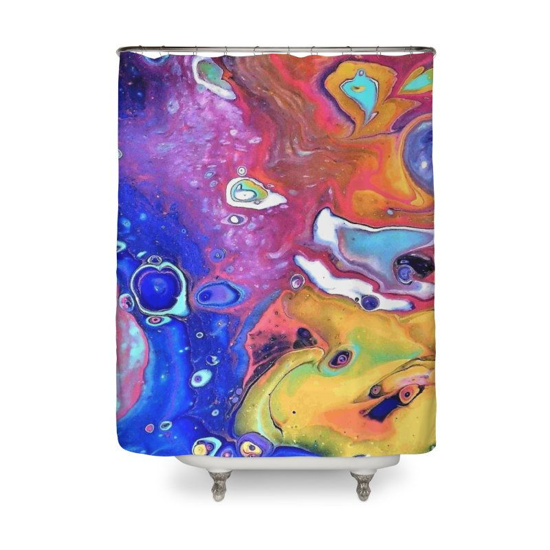 Wild and Crazy Acrylic Flow Home Shower Curtain by Creations of Joy's Artist Shop