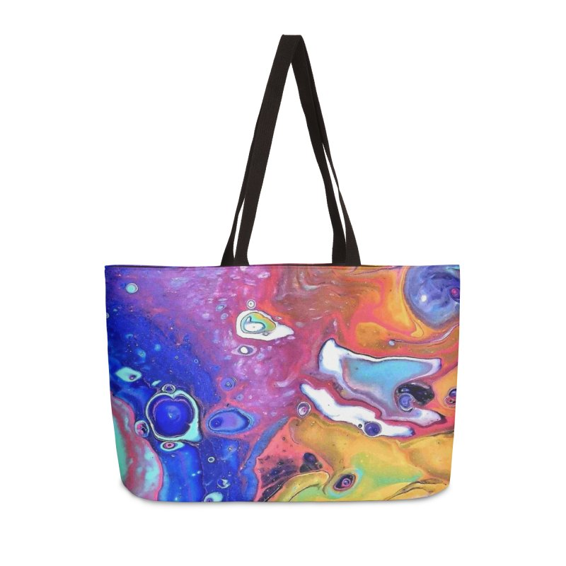 Wild and Crazy Acrylic Flow Accessories Weekender Bag Bag by Creations of Joy's Artist Shop