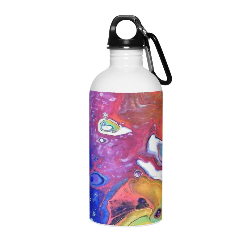 Wild and Crazy Acrylic Flow Accessories Water Bottle by Creations of Joy's Artist Shop