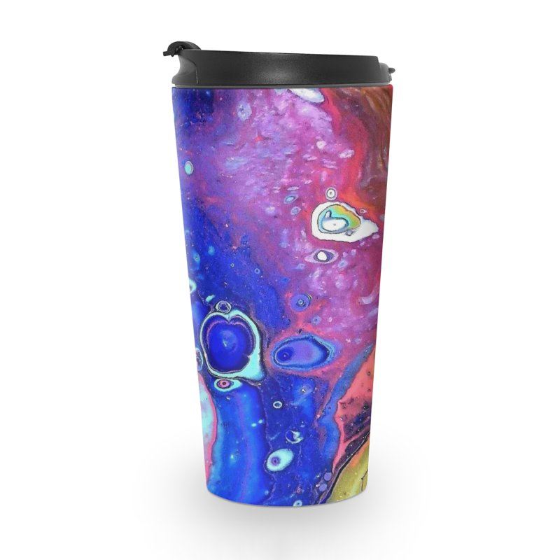 Wild and Crazy Acrylic Flow Accessories Travel Mug by Creations of Joy's Artist Shop