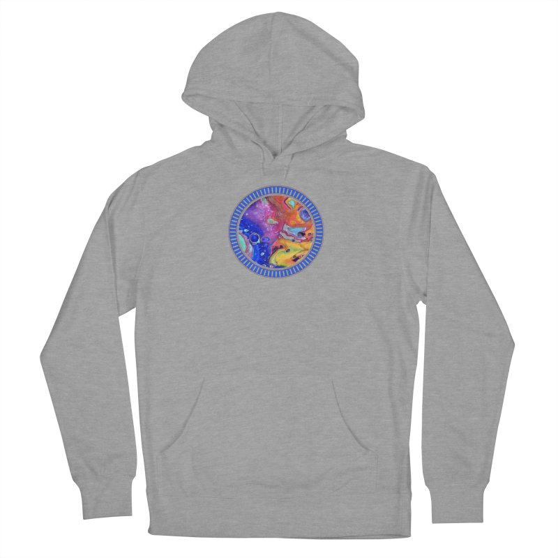 Wild and Crazy Acrylic Flow Men's French Terry Pullover Hoody by Creations of Joy's Artist Shop