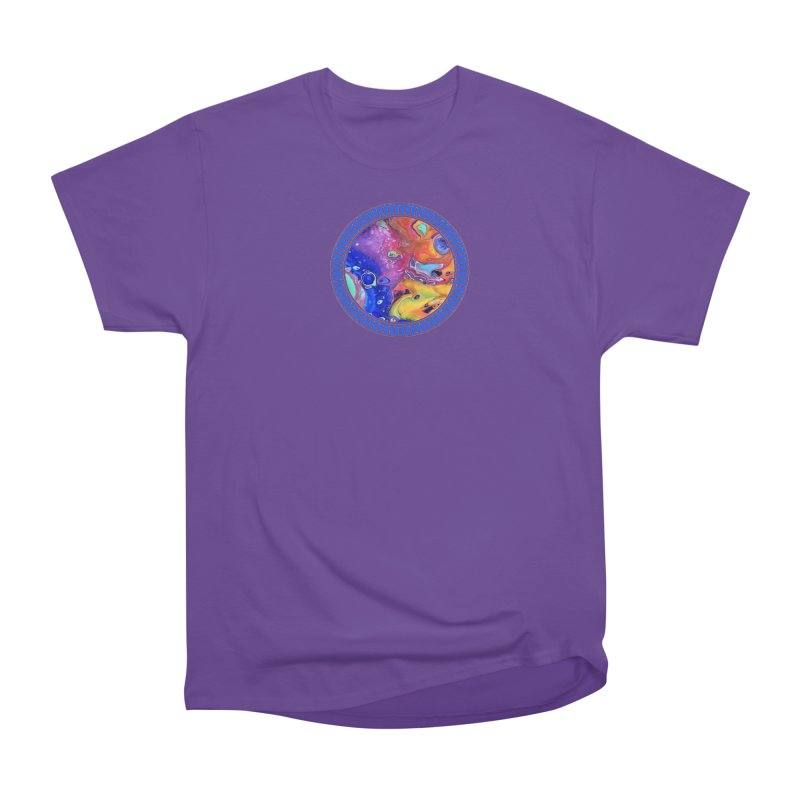 Wild and Crazy Acrylic Flow Men's Heavyweight T-Shirt by Creations of Joy's Artist Shop
