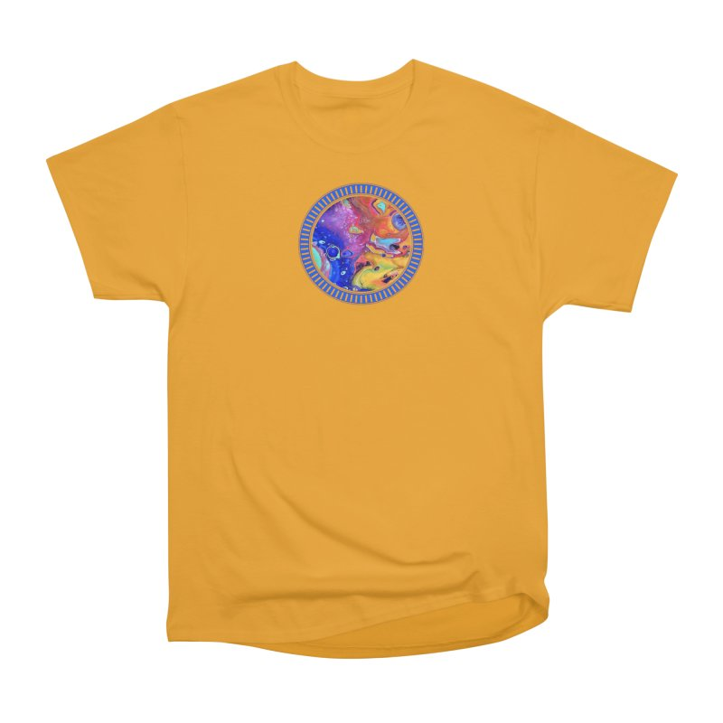 Wild and Crazy Acrylic Flow Men's Classic T-Shirt by Creations of Joy's Artist Shop