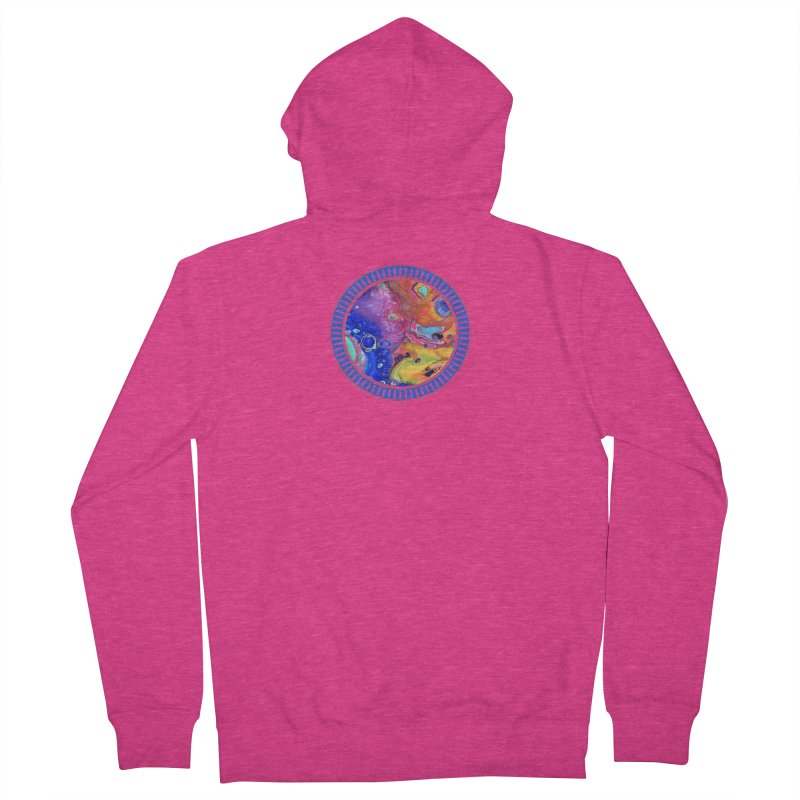 Wild and Crazy Acrylic Flow Women's French Terry Zip-Up Hoody by Creations of Joy's Artist Shop