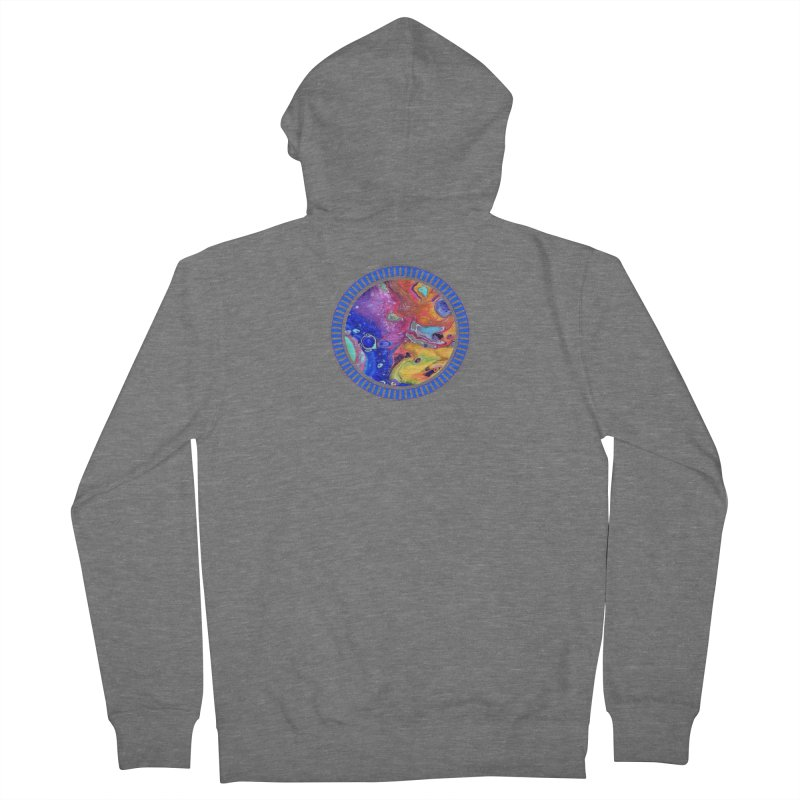 Wild and Crazy Acrylic Flow Men's French Terry Zip-Up Hoody by Creations of Joy's Artist Shop