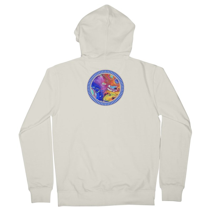 Wild and Crazy Acrylic Flow Men's Zip-Up Hoody by Creations of Joy's Artist Shop