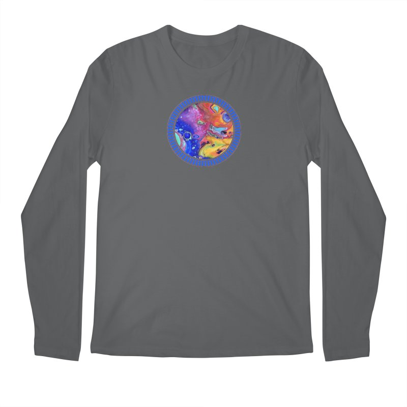 Wild and Crazy Acrylic Flow Men's Regular Longsleeve T-Shirt by Creations of Joy's Artist Shop
