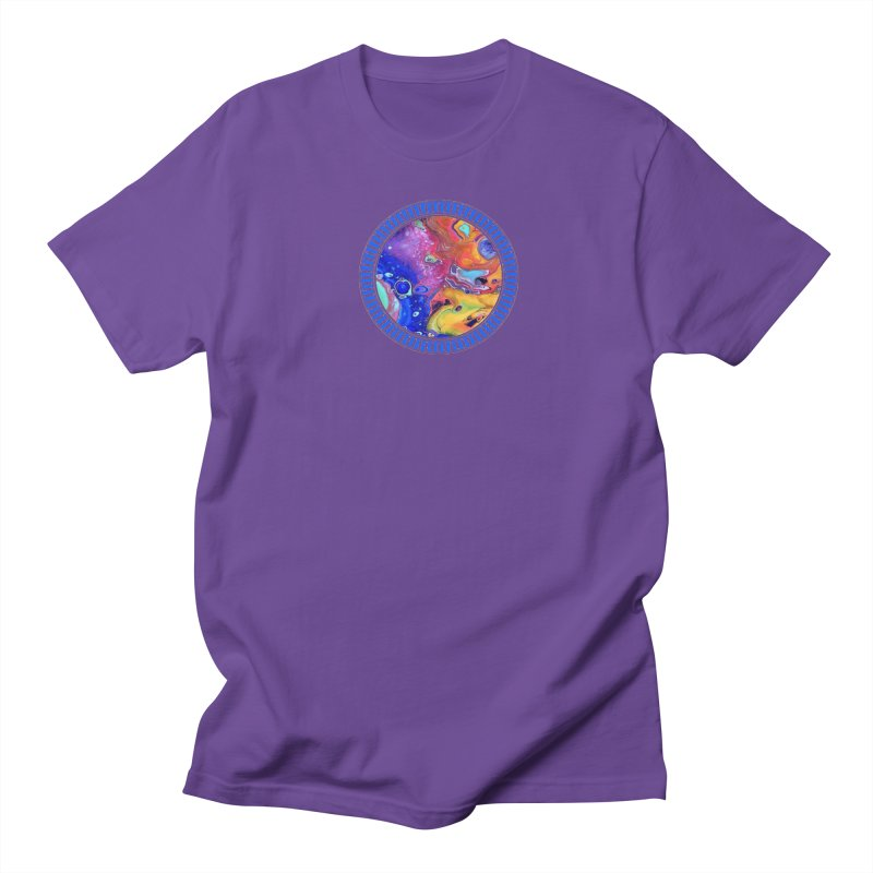 Wild and Crazy Acrylic Flow Men's Regular T-Shirt by Creations of Joy's Artist Shop