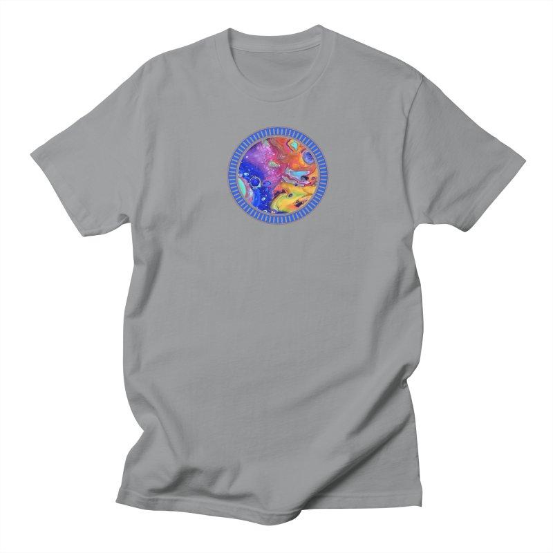 Wild and Crazy Acrylic Flow Women's Regular Unisex T-Shirt by Creations of Joy's Artist Shop