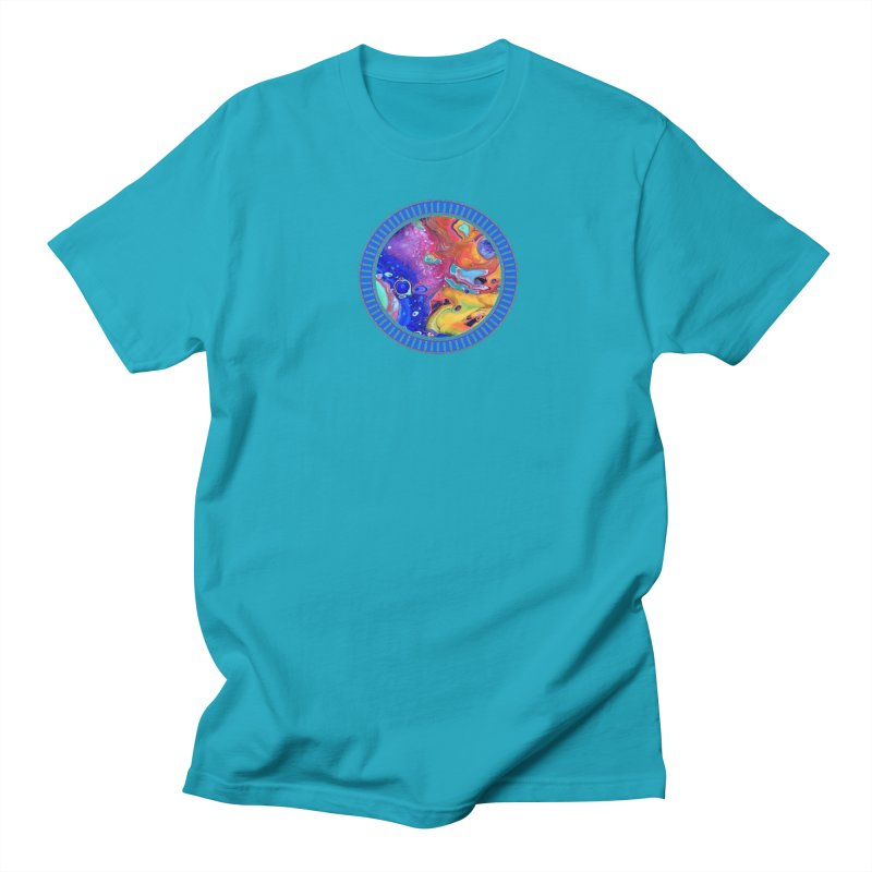 Wild and Crazy Acrylic Flow Women's Regular Unisex T-Shirt by Creations of Joy's Artist Shop