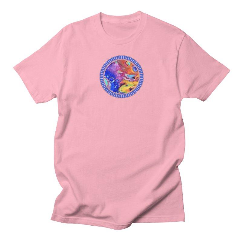 Wild and Crazy Acrylic Flow Men's Regular T-Shirt by Creations of Joy's Artist Shop