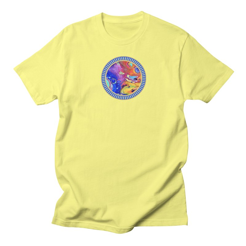 Wild and Crazy Acrylic Flow Men's T-Shirt by Creations of Joy's Artist Shop