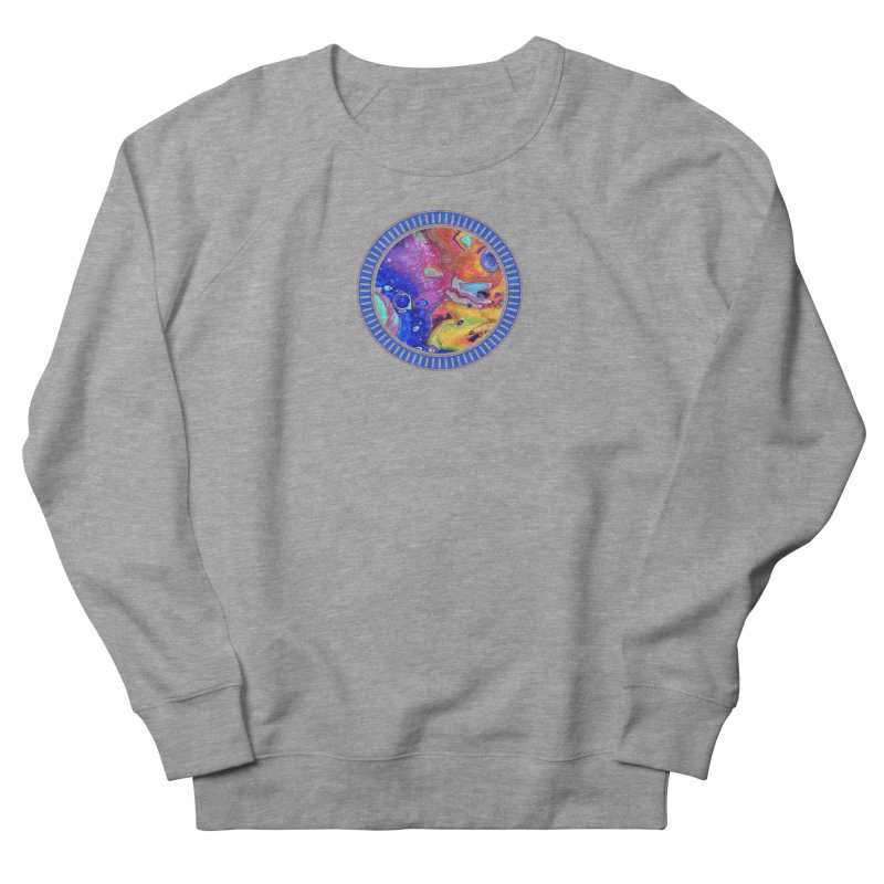Wild and Crazy Acrylic Flow Women's French Terry Sweatshirt by Creations of Joy's Artist Shop