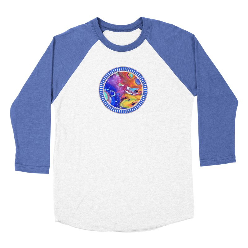 Wild and Crazy Acrylic Flow Women's Baseball Triblend T-Shirt by Creations of Joy's Artist Shop