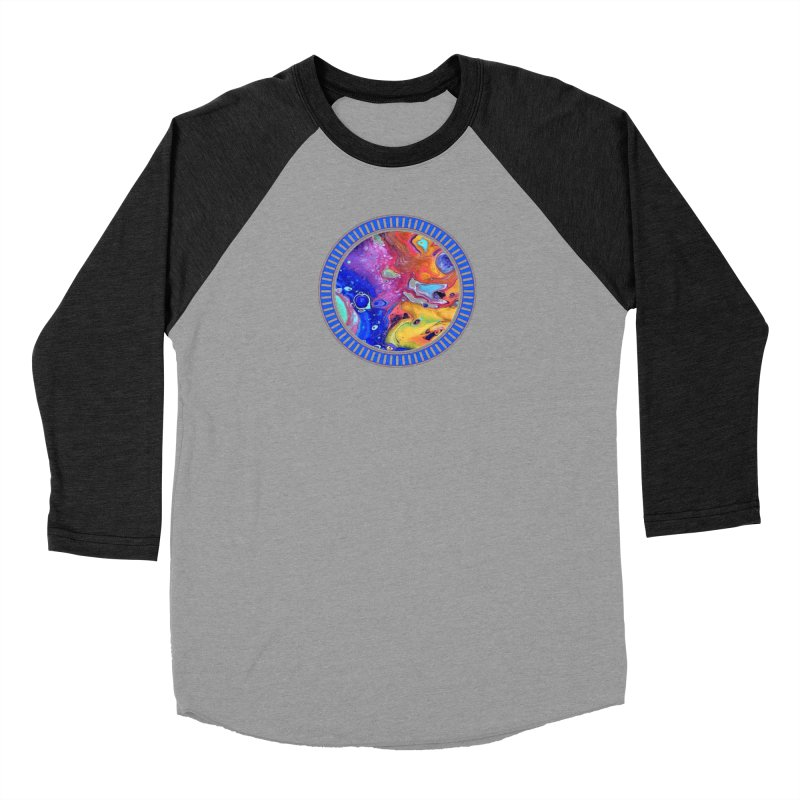 Wild and Crazy Acrylic Flow Men's Baseball Triblend T-Shirt by Creations of Joy's Artist Shop