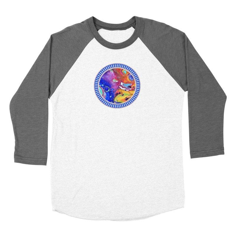 Wild and Crazy Acrylic Flow Men's Baseball Triblend Longsleeve T-Shirt by Creations of Joy's Artist Shop
